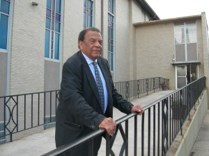 Andrew Young before entering Mount Vernon meeting