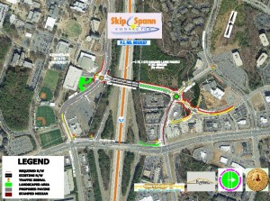 The planned Skip Spann Connector bridge, near Kennesaw State University, has been designed to cross the managed toll lanes that are to be built along I-75 and I-575. Credit: Cobb County