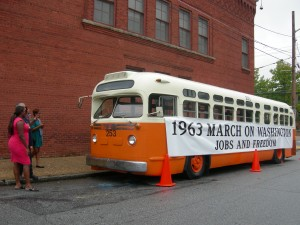A classic bus as they looked on Atlanta's streets in the 1960s