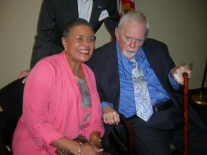 Alexis Scott greets Bill Shipp