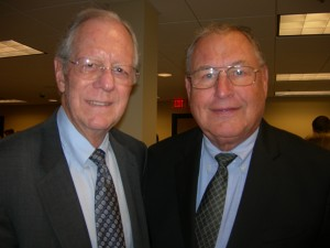 Gov. Joe Frank Harris and George Berry, who served as his commissioner of industry and trade
