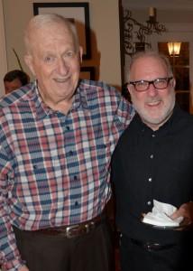 Bob Cohn with alum Rob Baskin, now general manager of Weber Shandwick Atlanta