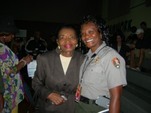 Christine Farris and Judy North of the National Park Service