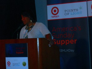 Bernice King addresses Sunday Supper gathering