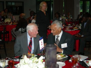 President Jimmy Carter and C.T. Vivian together at Sunday Supper (Photos by Maria Saporta)