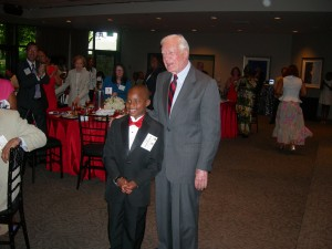 """Zaqary Asuamah with President Carter after delivering his version of the """"I Have a Dream"""" speech"""