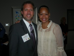 Doug Shipman of the Center for Civil and Human Rights with Lisa Border of the Coca-Cola Co.