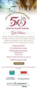 Gala Alliance - 50th Anniversary invitation