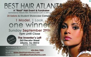 """Top stylists and students will face off in the """"Best Hair in Atlanta"""" contest to raise money for services for the homeless. Credit: besthairatlanta.com"""