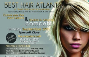Proceeds of the event are to help open a salon in downtown Atlanta where homeless individuals can receive free grooming and learn about jobs in the cosmetology industry. Credit: besthairatlanta.com