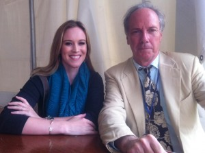 Photo of Bronwen Dickey and Ward Briggs at the Decatur Book Festival