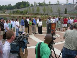 Opening day — Historic Fourth Ward Park — ion June 18, 2011 (Photo: Maria Saporta)