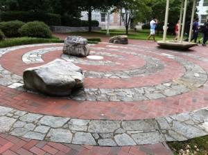 Photo of labyrinth at Emory University.