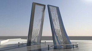 New water sculpture at National Center for Civil and Human Rights (Images provided by Center)