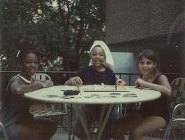 My birthday party on Sept. 10, 1967 at the Biltmore Hotel pool. Juandalynn Abernathy, Yolanda King and me