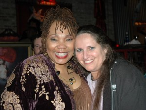 Yolanda and me at her 50th birthday party in 2005 (Photo: Sue Ross)