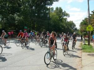 Bicycles along Virginia Avenue at Sunday's Atlanta Streets Alive
