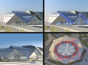 New Stadium Committee unveiled a new round of design concepts on Sept. 26, including these images. Credit: newstadium.atlantafalcons.com