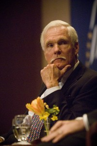 Ted Turner at the Carter Center in 2008 (Photo by Ann States)