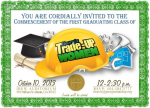 The Trade-Up commencement was a gala affair to celebrate the first all-female class of graduates. Credit: Trade-Up