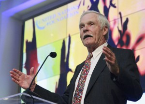Ted Turner during a UN Foundation trip to Norway in June 2011 (Photo by Stuart Ramson)