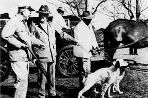 President Dwight D. Eisenhower (left) enjoyed quail hunting at Ichauway Plantation.