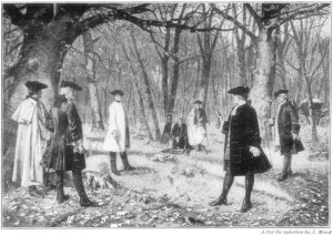 The duel between Aaron Burr and Alexander Hamilton took place in New Jersey in July 1804.