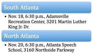 Atlanta has scheduled two community meetings this week to share information and answer questions about the city's housing stock. Credit: City of Atlanta