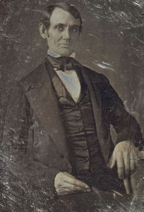 Abraham Lincoln, pictured in the 1840s, around the time he and Alexander Stephens developed a friendship and mutual respect for each other, despite their profound differences on the issue of slavery.