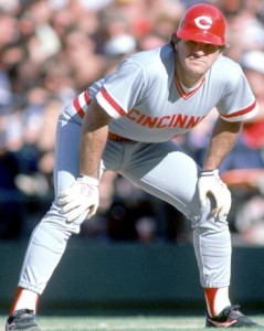 Disgraced baseball legend Pete Rose, pictured in his last game on Aug. 17, 1986, was a national hero when Georgia enacted the QBE funding formula. Credit: sportsillustrated.cnn.com