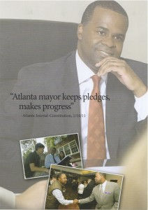 Mayor Kasim Reed's reelection campaign promotes a positive comment published in the AJC. Credit: Reed campaign