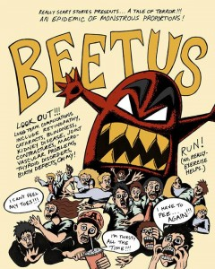 Leah Owenby's diabetes-inspired art includes the creation of this comic book character, Beetus.