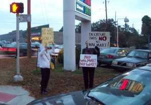 Good Growth DeKalb has held protests against Walmart at the intersection of North Decatur Road and Lawrenceville Highway.