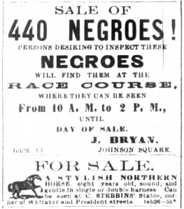 """At this slave auction, which later became known as """"the weeping time,"""" Pierce Mease Butler sold more than 400 slaves."""