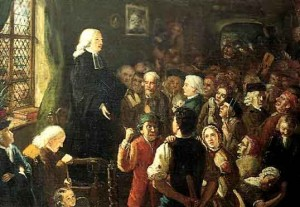 John Wesley, the founder of Methodism, practiced his itinerant ministry in the Georgia colony from 1736 to 1738.
