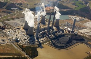 Coal-fired power plants, such as Plant Bowen near Cartersville, are supported by a majority of millennials, according to a poll by the Sierra Club's Georgia chapter. Credit: panoramio.com (2008)