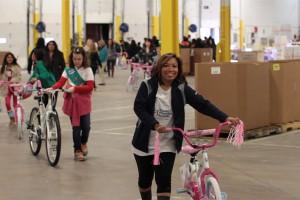 Keshia Vaughn volunteers at Toys for Tots. Credit: KRJ Productions