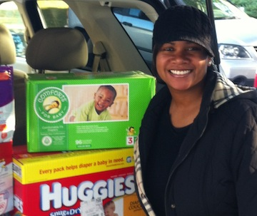 Photo of Adrienne Hopkins, founder of the Diaper Bank of Greater Atlanta.