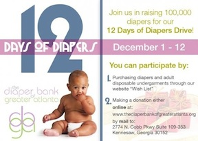 12 Days of Diapers by the Diaper Bank of Greater Atlanta