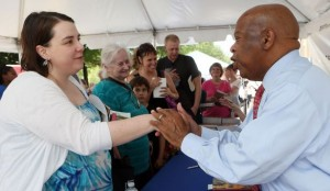 Civil rights icon John Lewis greets readers at the annual AJC Decatur Book Festival. Photo courtesy of Atlanta Journal-Constitution