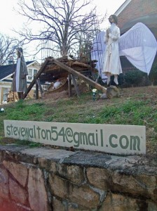 photo of Steve Walton's nativity display