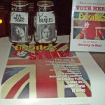 Voting via Mason jars for one of two legendary British bands.
