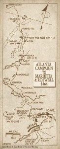 Click on the graphic for a larger version of the map that shows the route of the Atlanta Campaign, which took place the summer after the Battle of Chickamauga. Credit: belles-rebels.com