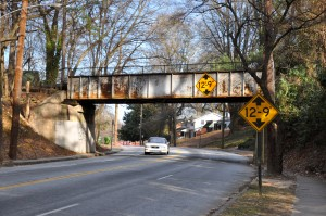 The BeltLine bridge above Martin Luther King Jr. Drive marks the western edge of the corridor's commercial district. Credit: Donita Pendered