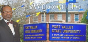 Ivelaw Lloyd Griffith, who in 2013 became the ninth president of Fort Valley State University, greets visitors to the school's website. Credit: fvsu.edu