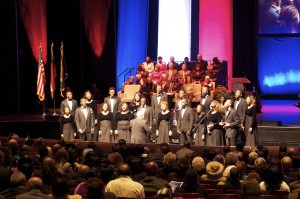 The Howard University Choir performed at the second mayoral inauguration of their alumnus, Kasim Reed. Credit: Donita Pendered