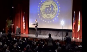 DeKalb County interim CEO Lee May presented the annual State of the County address Thursday in Decatur. Credit: DeKalb County TV 23