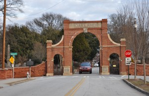 Martin Luther King Jr. Drive ends at this gateway to Oakland Cemetery. Credit: Donita Pendered