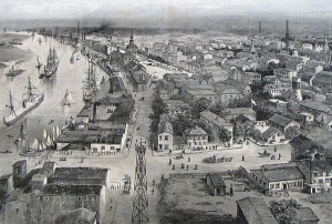 The city and harbor of Savannah, circa 1889. Courtesy of Hargrett Rare Book & Manuscript Library, University of Georgia