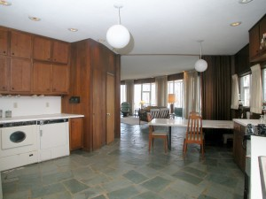 View from the kitchen towards living area